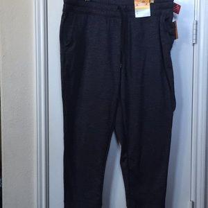 Gray champion fitted leg sweat pants